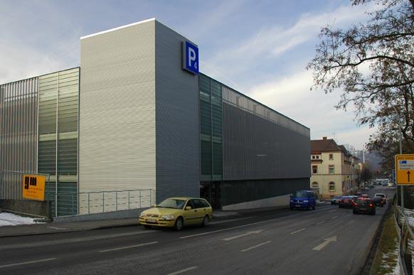 Parkhaus Ulmer Tor - Ansicht vom Eselsberg